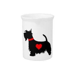 Scottie dog heart pitcher