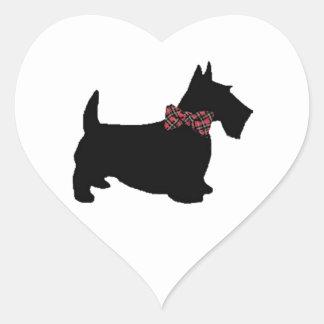 Scottie Dog in Plaid Bow Tie Sticker