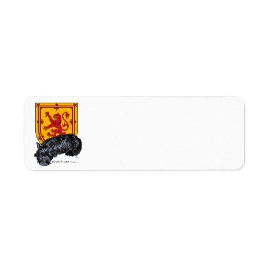 Scottie Dog Lion Rampant Flag Return Address Label