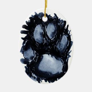 Scottie Dog Paw Ceramic Oval Decoration