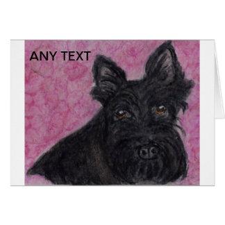 Scottie dog Personalised greetings card birthday