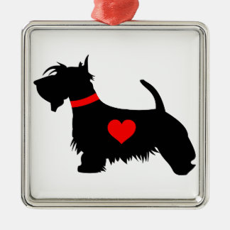 Scottie Dog Premium Square Ornaments