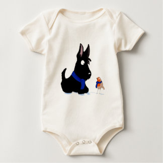 Scottie Dog & Robin Baby Bodysuit