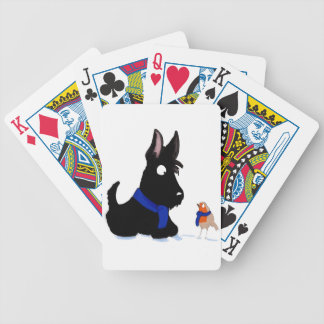 Scottie Dog & Robin Bicycle Playing Cards