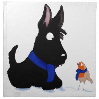 Scottie Dog & Robin Napkin