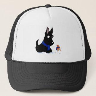Scottie Dog & Robin Trucker Hat