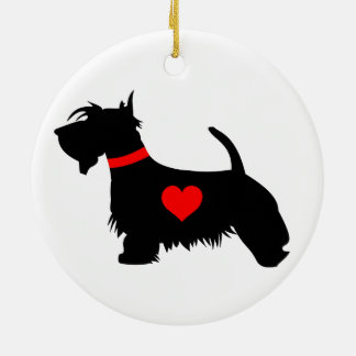 Scottie Dog Round Ornament