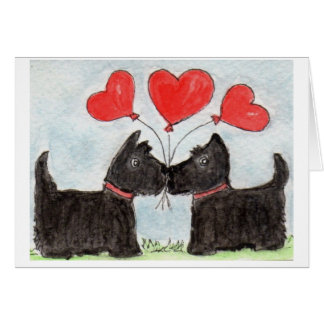 Scottie Dog Scottish Terrier art Notecard
