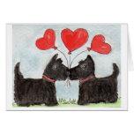 Scottie Dog Scottish Terrier art Notecard Note Card