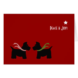 Scottie Dog Seasons Greetings Stationery Note Card