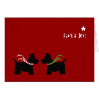 Scottie Dog Seasons Greetings Stationery Note Card