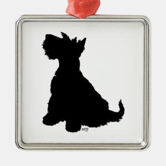 Scottie Dog Silhouette Ornament