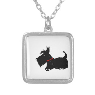 Scottie Dog Silver Plated Necklace