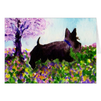 Scottie Dog 'Spring walk' Card