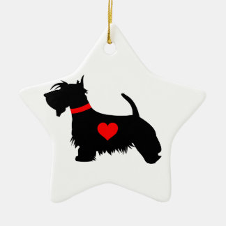 Scottie Dog star ornament