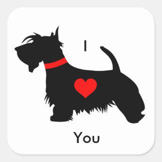 Scottie dog stickers - I love you