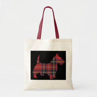 Scottie Dog Tartan Tote Bag