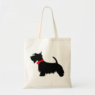 Scottie dog tote bag