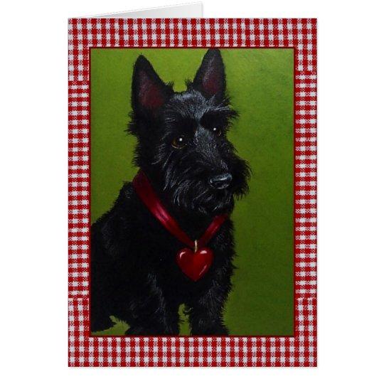 Scottie Dog Valentine Card