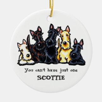 Scottie Five Personalized Christmas Ornament
