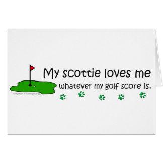 Scottie Greeting Card