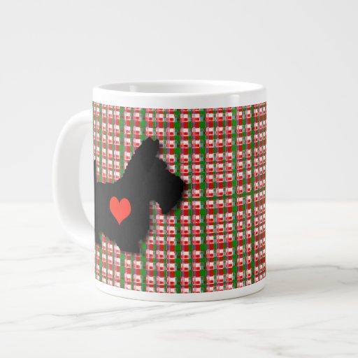 Scottie Heart Love Jumbo Mug