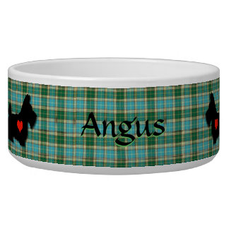 Scottie Heart Personalized Dog Bowl