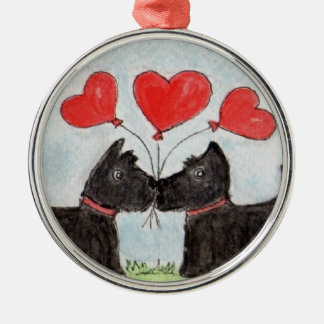 Scottie hearts hanging ornament birthday mothers
