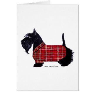 Scottie Holiday Jacket Card