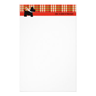 Scottie Holiday Plaid Writing Paper