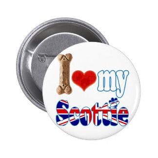 Scottie I love my Scottie Pinback Buttons