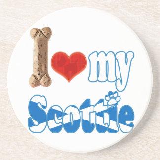 Scottie I love my Scottie Beverage Coaster