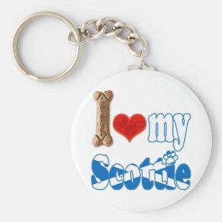 Scottie I love my Scottie Key Chain
