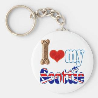 Scottie I love my Scottie Key Chains