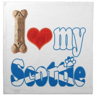 Scottie I love my Scottie Napkin