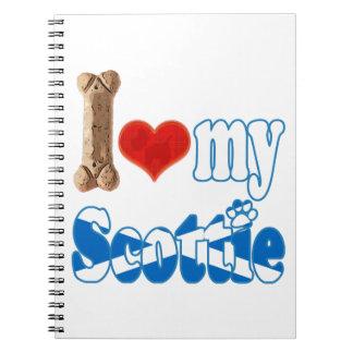 Scottie I love my Scottie Notebooks