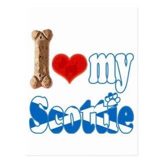 Scottie I love my Scottie Post Cards