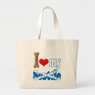 Scottie I love my Scottie Tote Bags