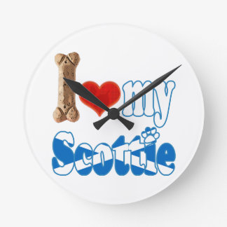 Scottie I love my Scottie Wallclocks