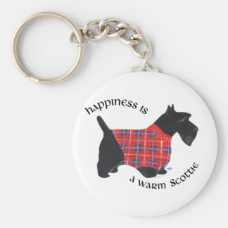 Scottie in Red & Blue Plaid Sweater Key Chain