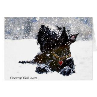 Scottie in the Snow Card