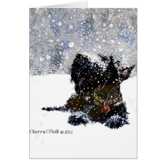 Scottie in the Snow Card