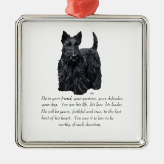Scottie Keepsake Ornament - MALE