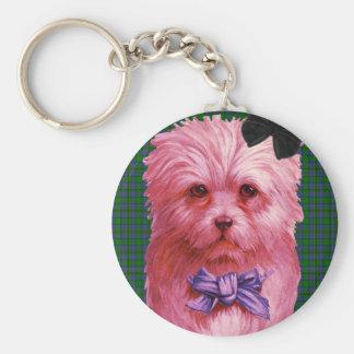 Scottie Basic Round Button Key Ring