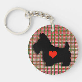 Scottie Love Heart Keychain