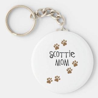 Scottie Mom Basic Round Button Key Ring