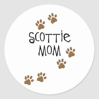 Scottie Mom Classic Round Sticker
