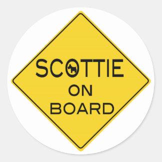 Scottie On Board Round Stickers