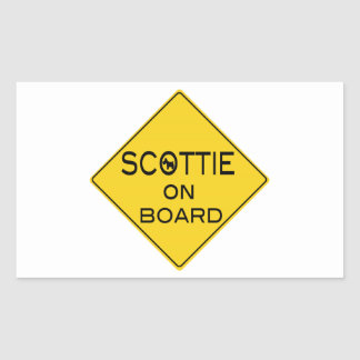Scottie On Board Rectangular Sticker