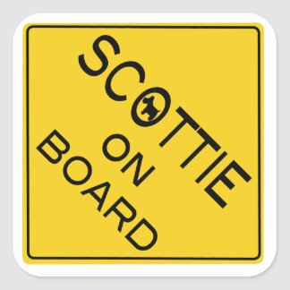 Scottie On Board Square Sticker